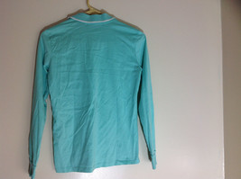 Ralph Lauren Golf Teal Mint Long Sleeve Polo Shirt Small Emblem on Chest Size S image 5