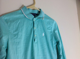 Ralph Lauren Golf Teal Mint Long Sleeve Polo Shirt Small Emblem on Chest Size S image 2