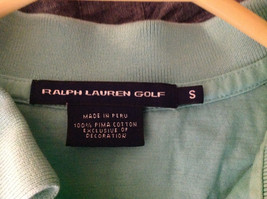 Ralph Lauren Golf Teal Mint Long Sleeve Polo Shirt Small Emblem on Chest Size S image 6