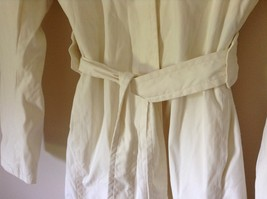 Reaction Kenneth Cole White Trench Coat Belt Buttons Shoulder Pads Size Large image 5