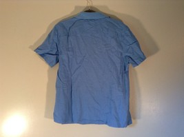 Real Clothes Saks Fifth Avenue Blue Short Sleeve Collar 4 Button Closure Size S image 4