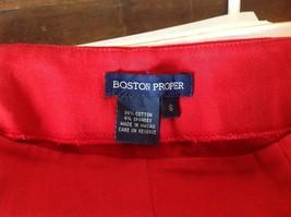 Red Boston Proper Dress Pants Size 6 Slightly Stretchy image 7