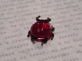 Red Bug Hand Blown Glass Mini Figurine Made in USA image 3