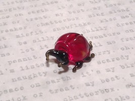Red Bug Hand Blown Glass Mini Figurine Made in USA image 5