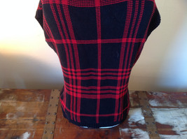 Red Black Sleeveless Wide Turtleneck Sweater Made in China Chaps Denim Size  M image 5