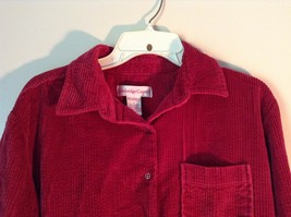 Red Corduroy Button Up Shirt with Buttoned Cuffs Cambridge Country Size Small image 5