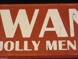 Red Wooden Box Christmas Sign Wanted Jolly Men Bearing Gifts Saying image 5
