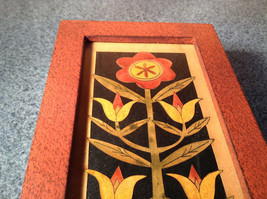 Red Trinket Box with Blooming Flowers Medium Size Paper Cutout Replaceable Image image 6