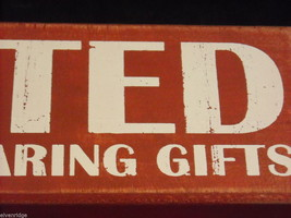 Red Wooden Box Christmas Sign Wanted Jolly Men Bearing Gifts Saying image 6