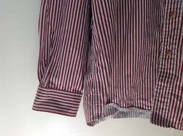 Red White Striped Button Up Front Pocket Shirt Woods and Woods Size XXL image 4