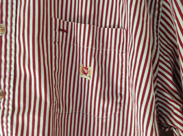 Red White Striped Button Up Front Pocket Shirt Woods and Woods Size XXL image 3