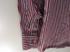 Red White Striped Button Up Front Pocket Shirt Woods and Woods Size XXL image 5