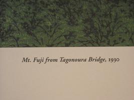 Reproduction Japanese Color Woodblock Print 1930 Mt. Fuji from Tagonoura Bridge image 5