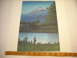 Reproduction Japanese Color Woodblock Print 1930 Mt. Fuji from Tagonoura Bridge image 6