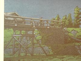 Reproduction Japanese Color Woodblock Print 1930 Mt. Fuji from Tagonoura Bridge image 3