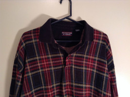 Red Green Black Blue Yellow Plaid Polo Shirt Roundtree and York Size XXL image 2