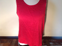Red Dressy Sleeveless 100 Percent Silk Very Soft Top by Silk House Size Medium image 3