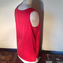 Red Dressy Sleeveless 100 Percent Silk Very Soft Top by Silk House Size Medium image 4