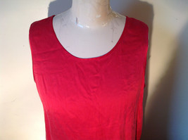 Red Dressy Sleeveless 100 Percent Silk Very Soft Top by Silk House Size Medium image 2