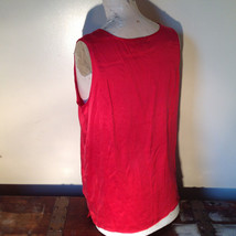 Red Dressy Sleeveless 100 Percent Silk Very Soft Top by Silk House Size Medium image 7