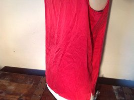 Red Dressy Sleeveless 100 Percent Silk Very Soft Top by Silk House Size Medium image 6