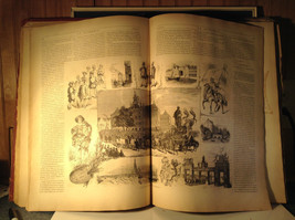 Red L Academia 1877 Spanish Book Appears to be Encyclopedia or Reference Book image 5