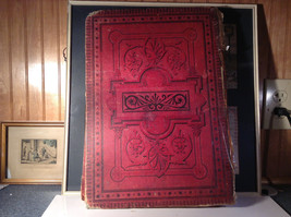 Red L Academia 1877 Spanish Book Appears to be Encyclopedia or Reference Book image 7