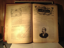 Red L Academia 1877 Spanish Book Appears to be Encyclopedia or Reference Book image 4