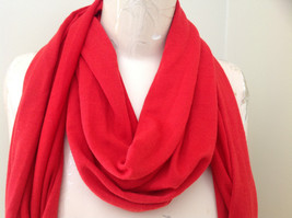 Red Metal Decorated as Tassels Fashion Scarf See Measurements Below image 3