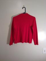 Red Mock Turtleneck Top Liz Claiborne Petite Size M Petite Long Sleeves image 3