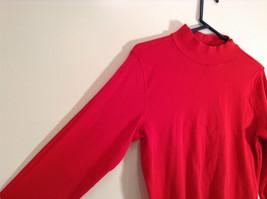 Red Mock Turtleneck Top Liz Claiborne Petite Size M Petite Long Sleeves image 2