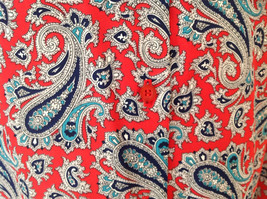 Red Navy Paisley Button up Tie at Neck Long Sleeve Shirt Alfred Dunner Size 12 image 5