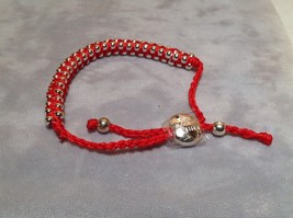 Red Small Tied String Bracelet Sliding Bead for Adjustment image 4