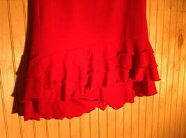 Red Skirt with Elastic Waist Ruffles at Bottom by Wet Seal Measurements Below image 2