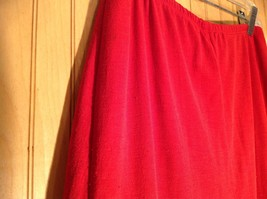 Red Skirt with Elastic Waist Ruffles at Bottom by Wet Seal Measurements Below image 4