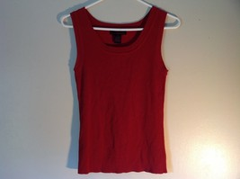 Red Sleeveless Willi Smith Size Small Tank Top Rayon and Nylon image 2
