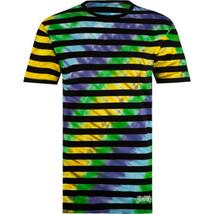 BILLABONG Madness Men's Tie Die Background Stripe Tee Sz M New - £10.27 GBP