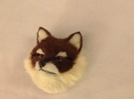 Red fox   furry refrigerator magnet in 3D image 3