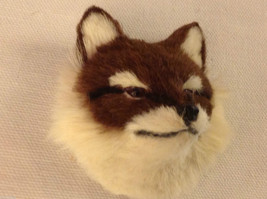 Red fox   furry refrigerator magnet in 3D image 2