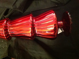 Red glass tree topper short or tall 16 1/2 or 20 1/2 inches image 10