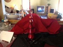 Red glass tree topper short or tall 16 1/2 or 20 1/2 inches image 6