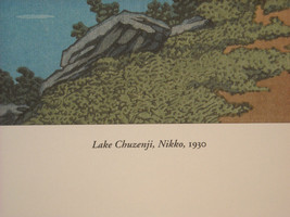 Reproduction Color Woodblock Print 1930 Lake Chuzenji Nikko in Autumn image 4