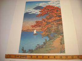 Reproduction Color Woodblock Print 1930 Lake Chuzenji Nikko in Autumn image 5