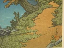 Reproduction Color Woodblock Print 1930 Lake Chuzenji Nikko in Autumn image 3
