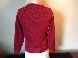 Red with Black Specks Long Sleeve Sweater Good Condition See Measurements Below image 5