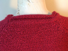 Red with Black Specks Long Sleeve Sweater Good Condition See Measurements Below image 6