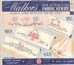 walker's His Hers bords Pillowcase transfers 712 - $5.00