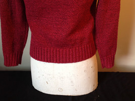 Red with Black Specks Long Sleeve Sweater Good Condition See Measurements Below image 8