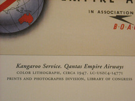 Reproduction Print Vintage Travel Ad for Qantas Empire Airways Kangaroo Service image 3