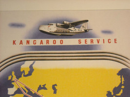 Reproduction Print Vintage Travel Ad for Qantas Empire Airways Kangaroo Service image 4